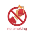 The sign no smoking vector image vector image