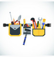 tool belt icon vector image vector image