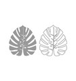 tropical leaf icon grey set vector image vector image