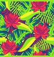 tropical pattern with lotus 2 vector image vector image