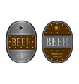 Two oval beer labels vector image vector image