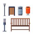 urban infrastructure design element set lamppost vector image