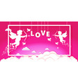 valentine cupids amours angels shooting love vector image