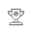 video game trophy cup hand drawn outline doodle vector image vector image