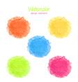 Watercolor rainbow spots set vector image vector image