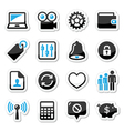 Web internet icons set vector image vector image