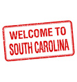 welcome to South Carolina red grunge square stamp vector image vector image
