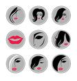 woman hair pics vector image vector image