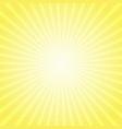 yellow sunny striped pattern retro pop art vector image