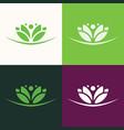 flower green logo vector image