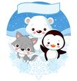 North Pole Animals vector image