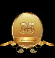 35th golden anniversary birthday seal icon vector image vector image
