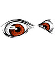 a creature animal eyes design vector image vector image