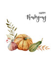a watercolor postcard for thanksgiving vector image