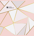 abstract elegant geometric triangle pink gold vector image vector image