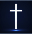 abstract glowing christian cross vector image vector image