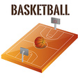an isolated basketball field and text on a white b vector image