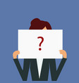 anonymous woman with red question mark not vector image