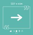arrow icon symbol vector image vector image