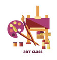 art class equipment to create pictures promo vector image vector image