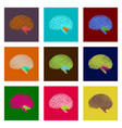 assembly of flat shading style icon brain vector image vector image