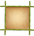 bamboo design blank mockup template rope paper vector image