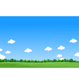beauty landscape background vector image vector image