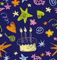 Birthday seamless pattern vector image vector image