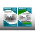 brochure template with cityscape vector image