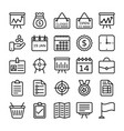 business and office line icons 17 vector image vector image