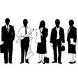 business people silhouette business people group vector image vector image