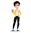 business woman freelancer banker vector image vector image