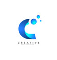 c letter logo design with 3d and ribbon effect vector image vector image