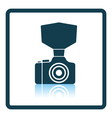 Camera with fashion flash icon vector image vector image