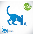 Cat Search Icon vector image vector image