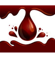 chocolate drop Flowing brown syrup vector image vector image