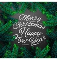 Christmas card with fir branch vector image vector image