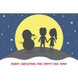 Christmas greeting card30 vector image vector image