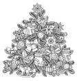 Christmas treeChristmas tree ornament vector image