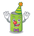 clown soft drink character cartoon vector image