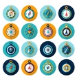 Compass Icon Flat vector image vector image