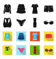 design of woman and clothing symbol vector image vector image