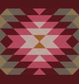 ethnic geometric ornament kilim turkish woven rug vector image