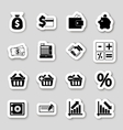 Finance icons on stikers vector image vector image