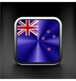 Flag of New Zealand as round glossy icon vector image vector image