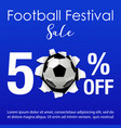 football festival sale background vector image