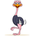 Funny ostrich cartoon vector image