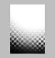 Geometrical abstract halftone dot pattern vector image
