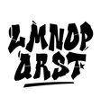 Graffiti style font type alphabet part 2 vector image vector image