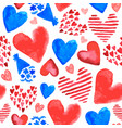 hand drawn romantic seamless pattern vector image vector image